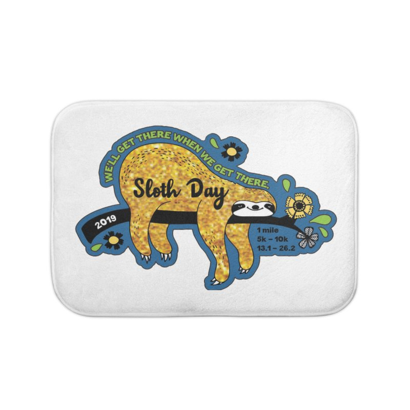 Sloth Day Home Bath Mat by Moon Joggers's Artist Shop