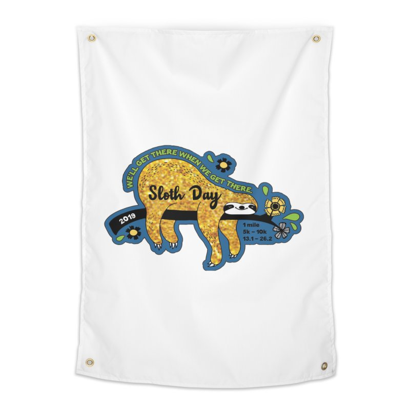 Sloth Day Home Tapestry by Moon Joggers's Artist Shop