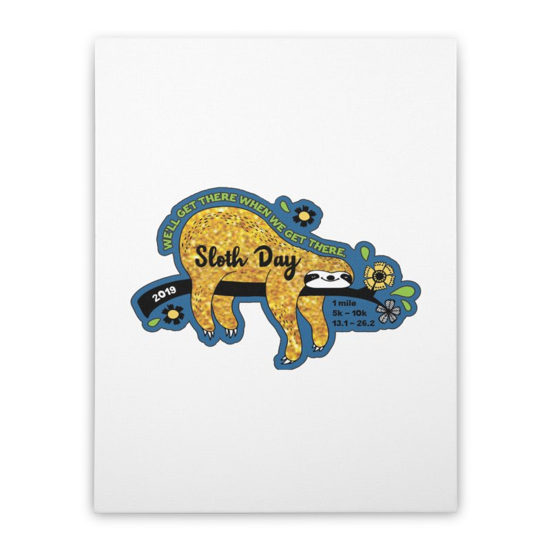 Sloth Day Home Stretched Canvas by moonjoggers's Artist Shop