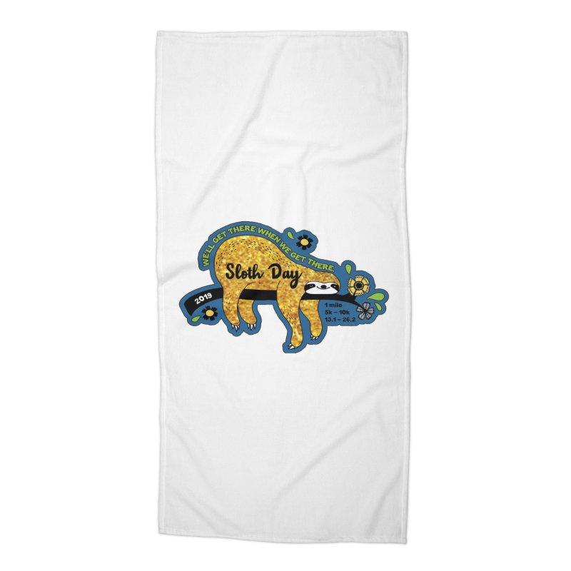 Sloth Day Accessories Beach Towel by moonjoggers's Artist Shop