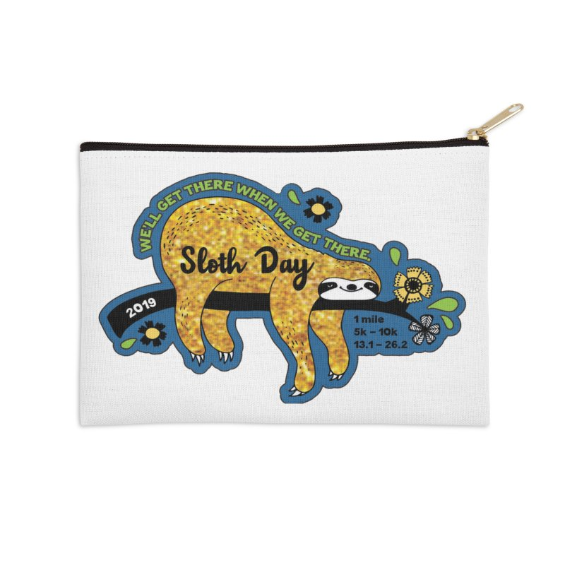 Sloth Day Accessories Zip Pouch by moonjoggers's Artist Shop