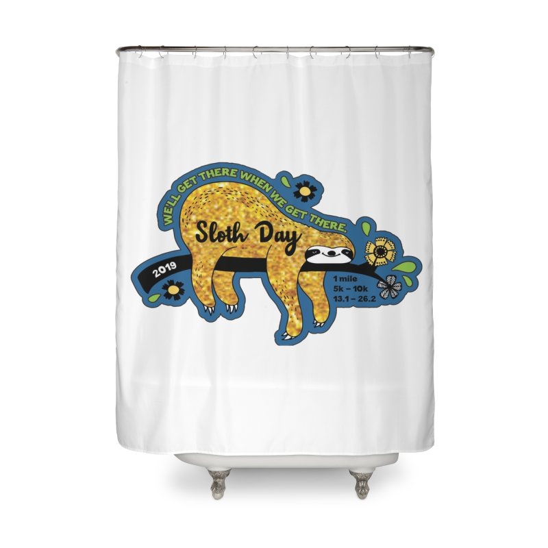Sloth Day Home Shower Curtain by Moon Joggers's Artist Shop