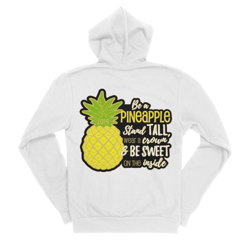 Be A Pineapple Women's Sponge Fleece Zip-Up Hoody by Moon Joggers's Artist Shop