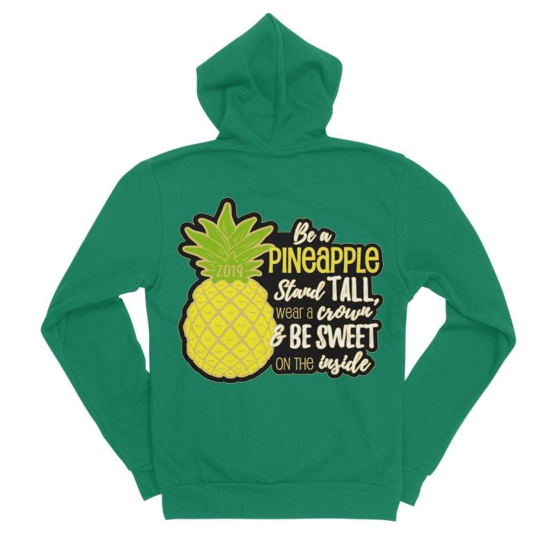 Be A Pineapple Men's Sponge Fleece Zip-Up Hoody by Moon Joggers's Artist Shop