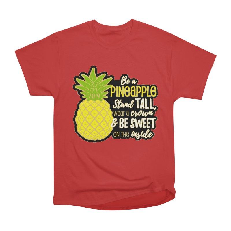 Be A Pineapple Men's Heavyweight T-Shirt by moonjoggers's Artist Shop
