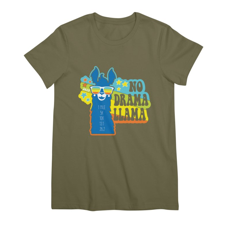 No Drama Llama Women's Premium T-Shirt by Moon Joggers's Artist Shop