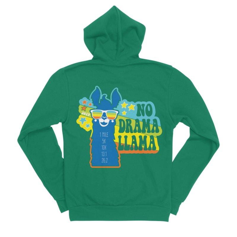 No Drama Llama Women's Sponge Fleece Zip-Up Hoody by Moon Joggers's Artist Shop