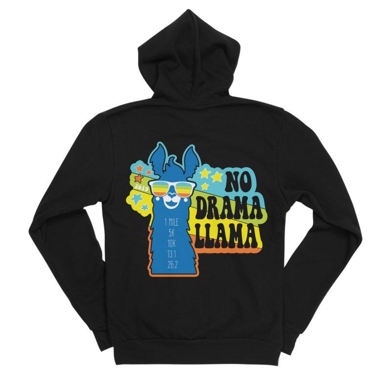 No Drama Llama Men's Sponge Fleece Zip-Up Hoody by Moon Joggers's Artist Shop