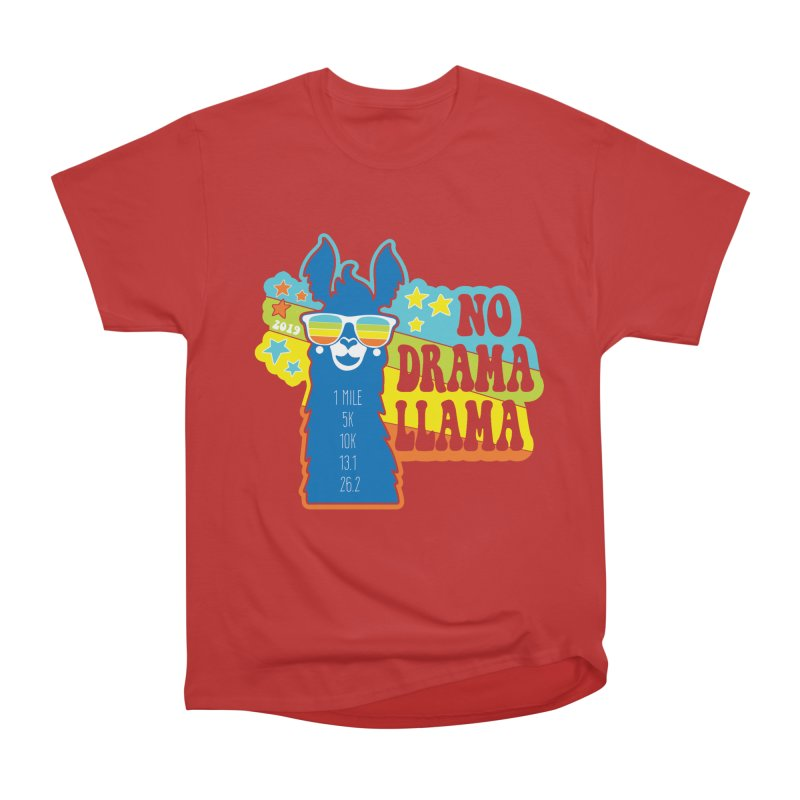 No Drama Llama Women's Heavyweight Unisex T-Shirt by Moon Joggers's Artist Shop