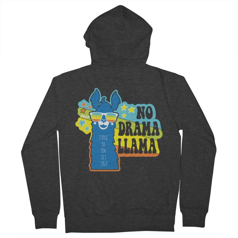 No Drama Llama Women's French Terry Zip-Up Hoody by Moon Joggers's Artist Shop
