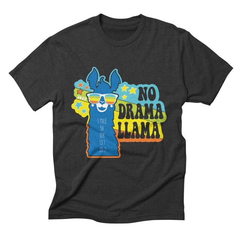 No Drama Llama Men's Triblend T-Shirt by Moon Joggers's Artist Shop