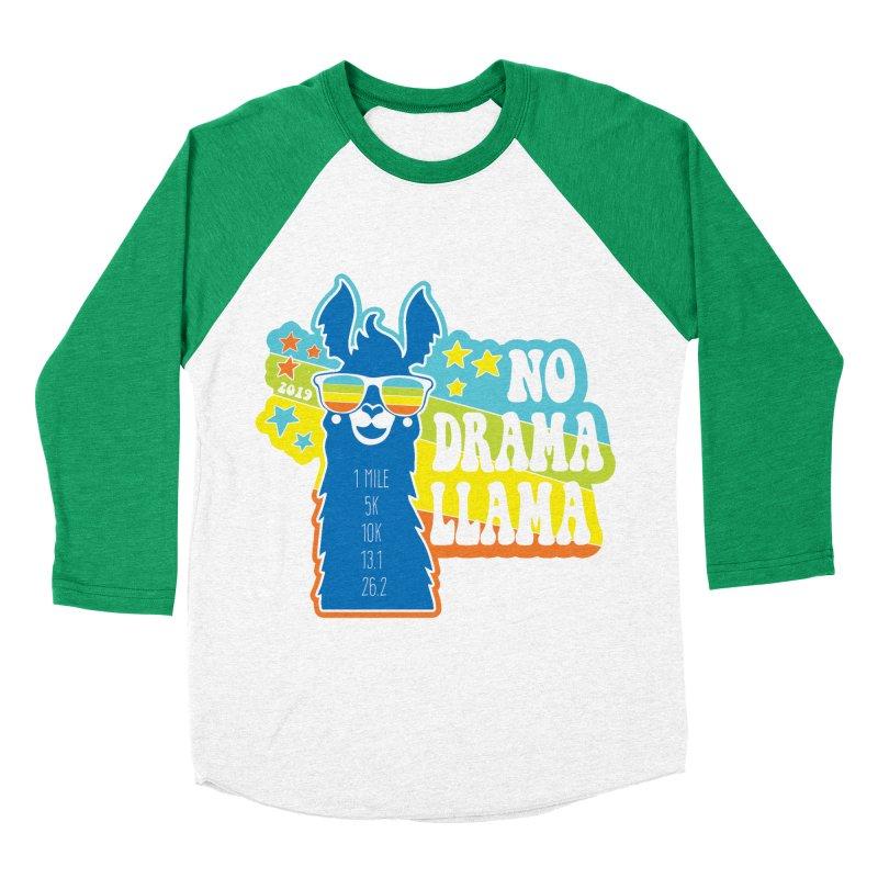 No Drama Llama Women's Baseball Triblend Longsleeve T-Shirt by Moon Joggers's Artist Shop