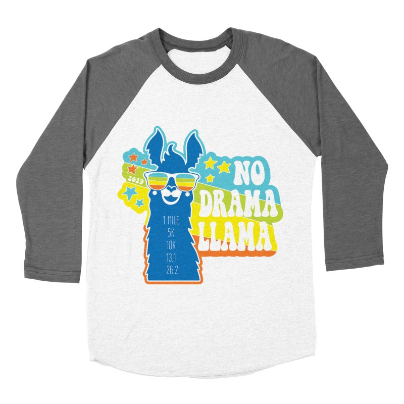 No Drama Llama Men's Baseball Triblend Longsleeve T-Shirt by Moon Joggers's Artist Shop