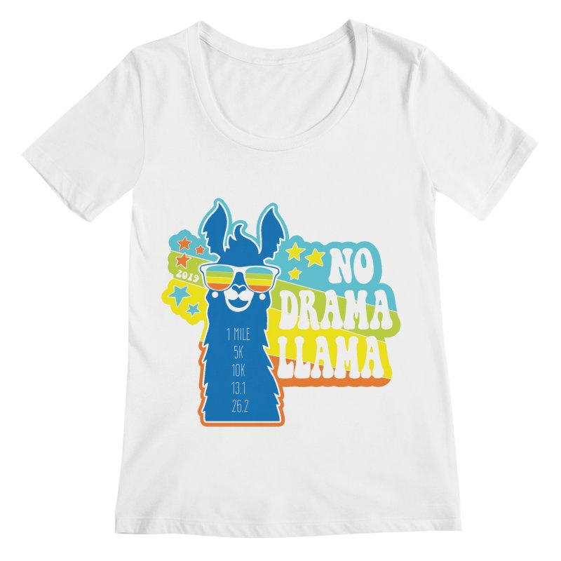 No Drama Llama Women's Regular Scoop Neck by Moon Joggers's Artist Shop