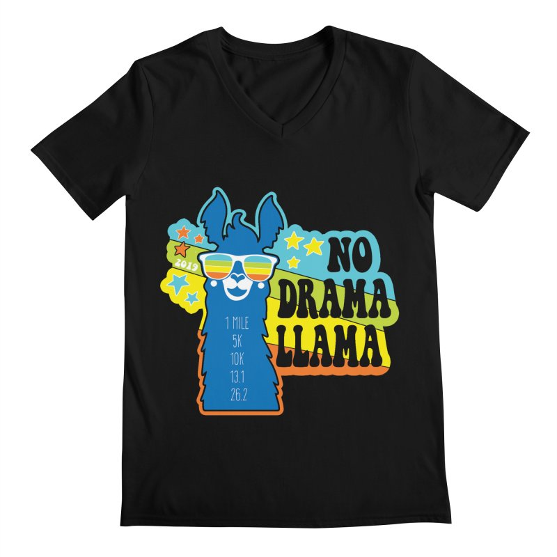 No Drama Llama Men's Regular V-Neck by Moon Joggers's Artist Shop