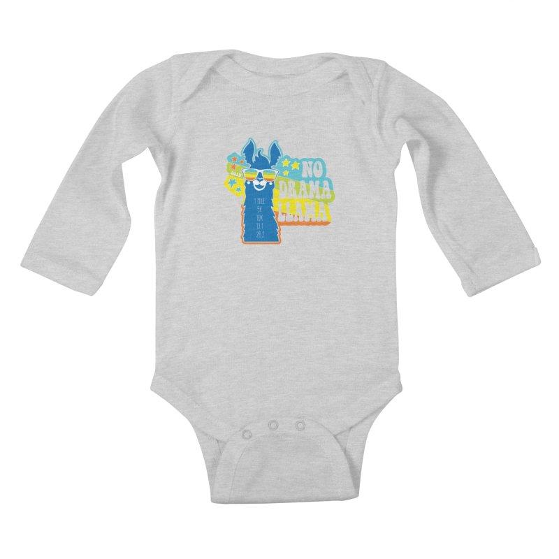 No Drama Llama Kids Baby Longsleeve Bodysuit by Moon Joggers's Artist Shop