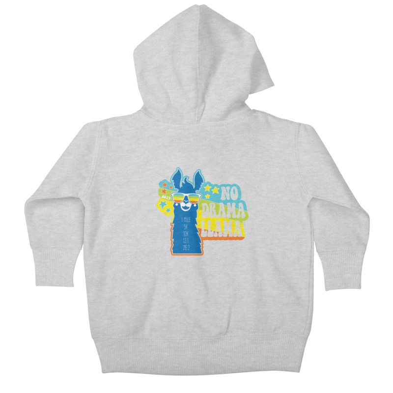 No Drama Llama Kids Baby Zip-Up Hoody by Moon Joggers's Artist Shop