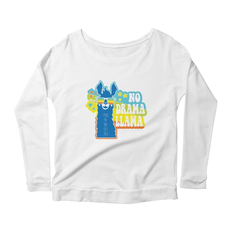 No Drama Llama Women's Scoop Neck Longsleeve T-Shirt by Moon Joggers's Artist Shop