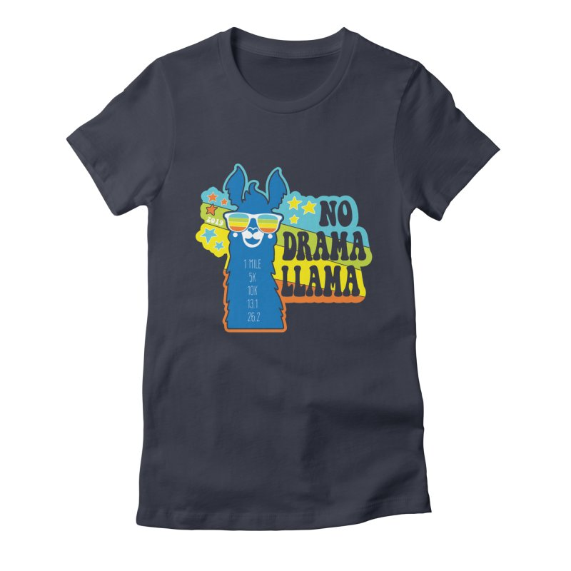 No Drama Llama Women's Fitted T-Shirt by Moon Joggers's Artist Shop