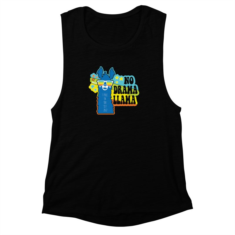 No Drama Llama Women's Muscle Tank by Moon Joggers's Artist Shop