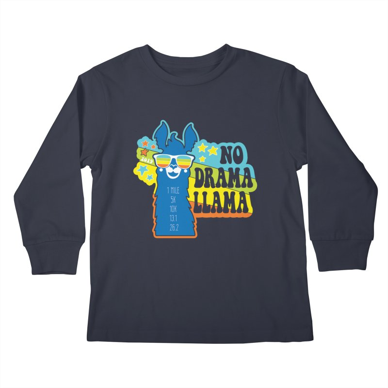 No Drama Llama Kids Longsleeve T-Shirt by Moon Joggers's Artist Shop