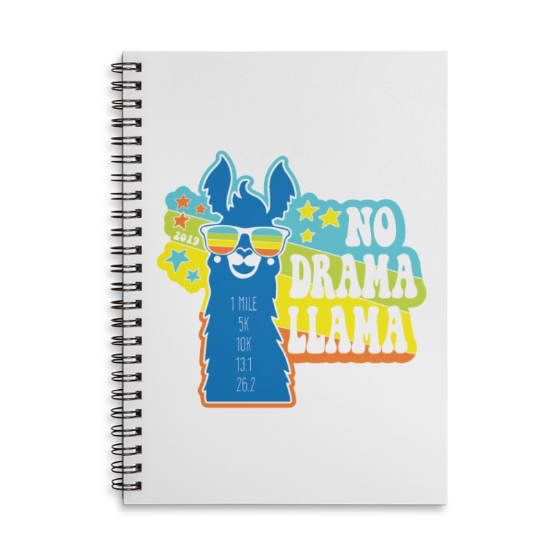 No Drama Llama Accessories Lined Spiral Notebook by Moon Joggers's Artist Shop