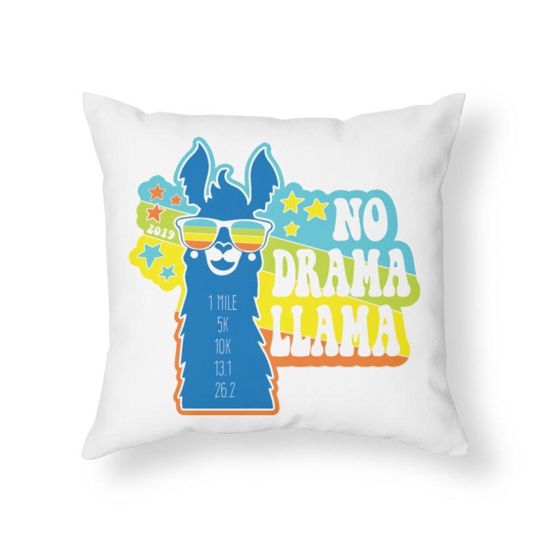 No Drama Llama Home Throw Pillow by Moon Joggers's Artist Shop