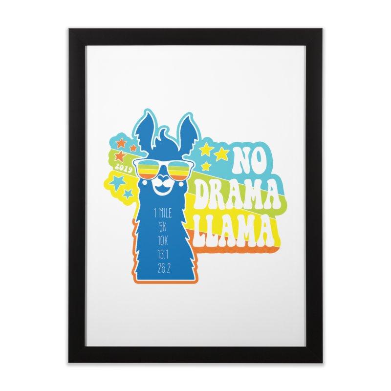 No Drama Llama Home Framed Fine Art Print by Moon Joggers's Artist Shop