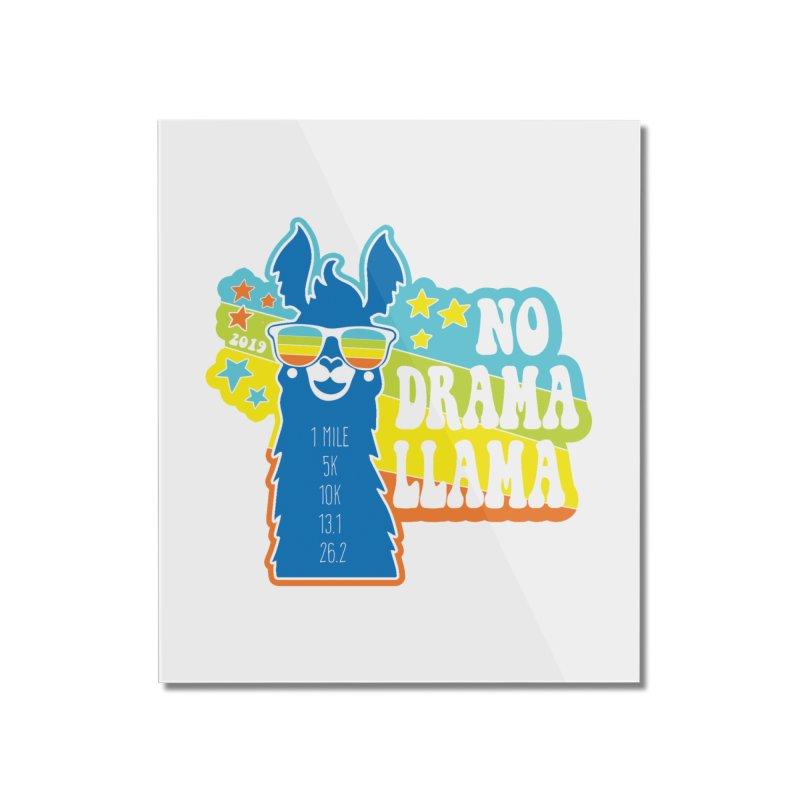 No Drama Llama Home Mounted Acrylic Print by Moon Joggers's Artist Shop