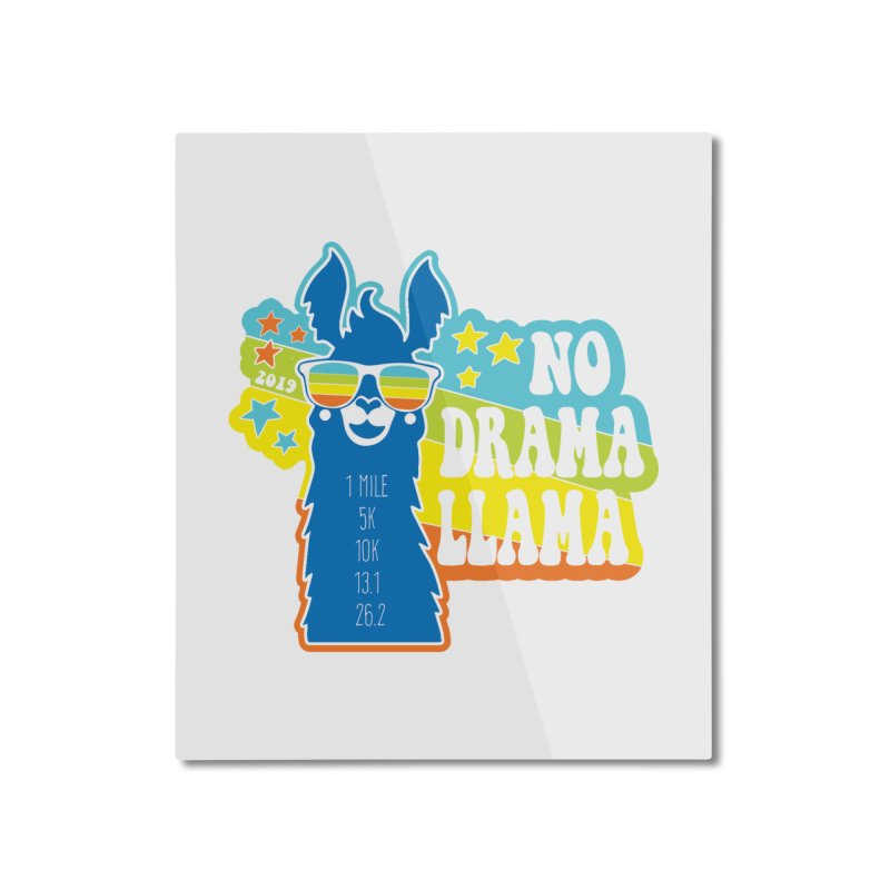 No Drama Llama Home Mounted Aluminum Print by Moon Joggers's Artist Shop