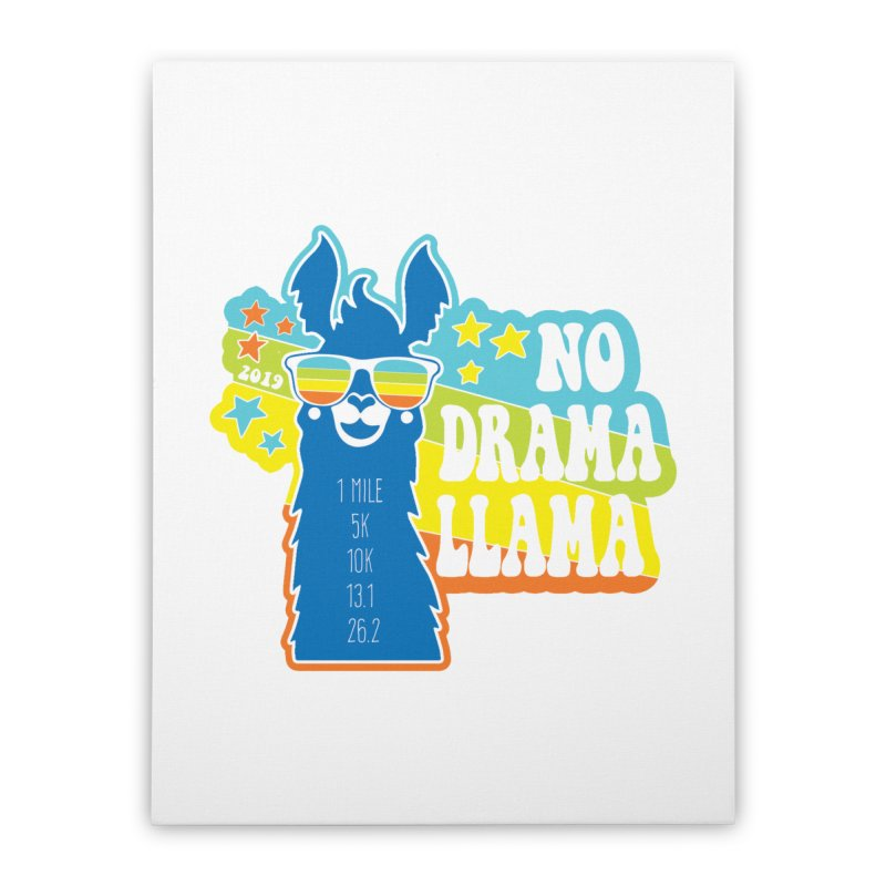 No Drama Llama Home Stretched Canvas by Moon Joggers's Artist Shop