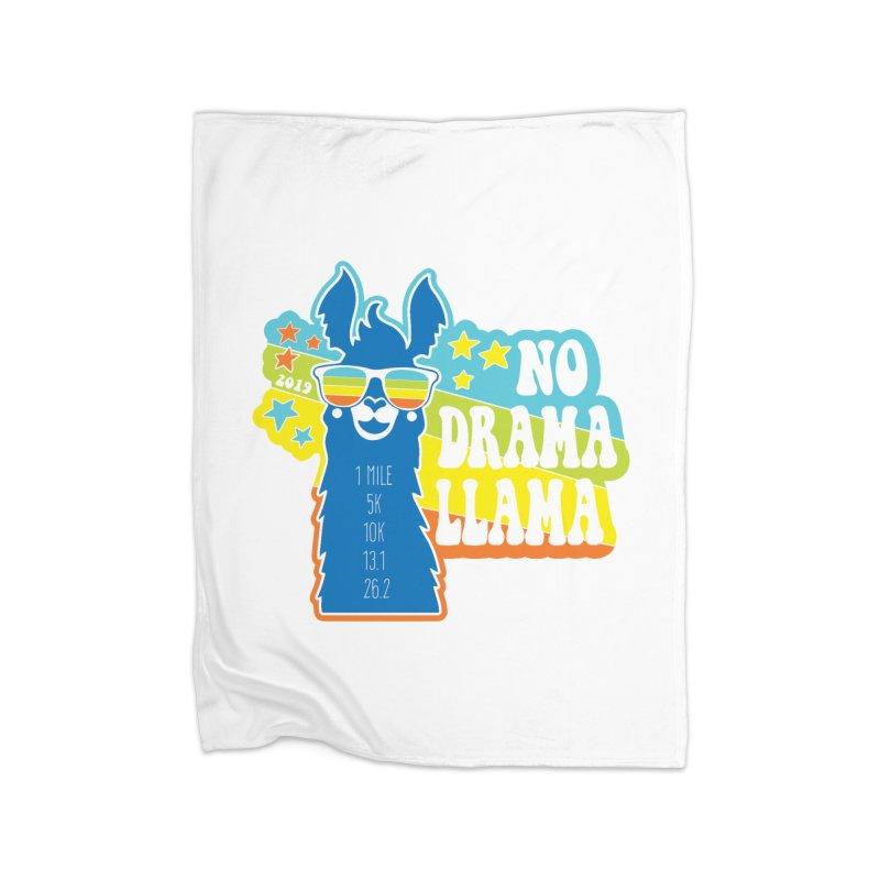 No Drama Llama Home Fleece Blanket Blanket by Moon Joggers's Artist Shop