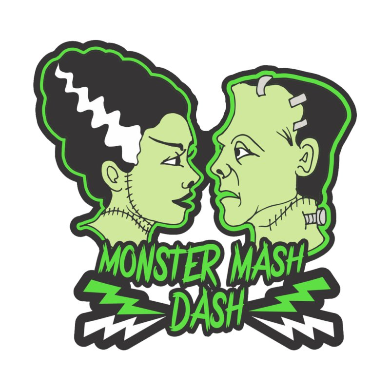 Monster Mash Dash Men's V-Neck by Moon Joggers's Artist Shop