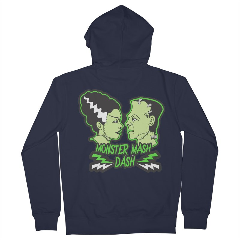 Monster Mash Dash Men's French Terry Zip-Up Hoody by moonjoggers's Artist Shop