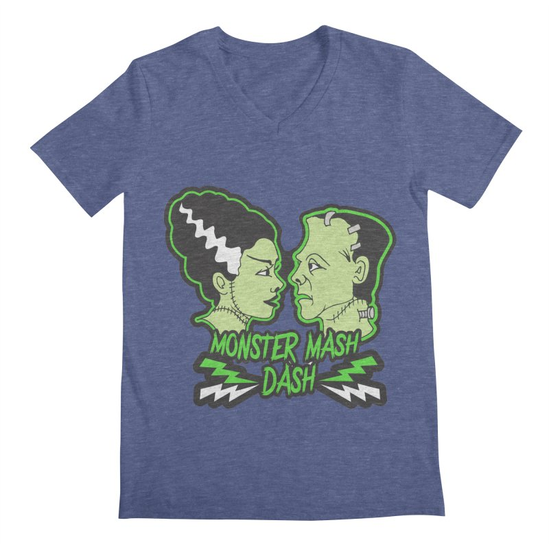 Monster Mash Dash Men's Regular V-Neck by Moon Joggers's Artist Shop