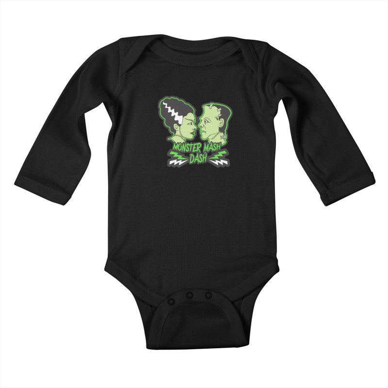 Monster Mash Dash Kids Baby Longsleeve Bodysuit by Moon Joggers's Artist Shop