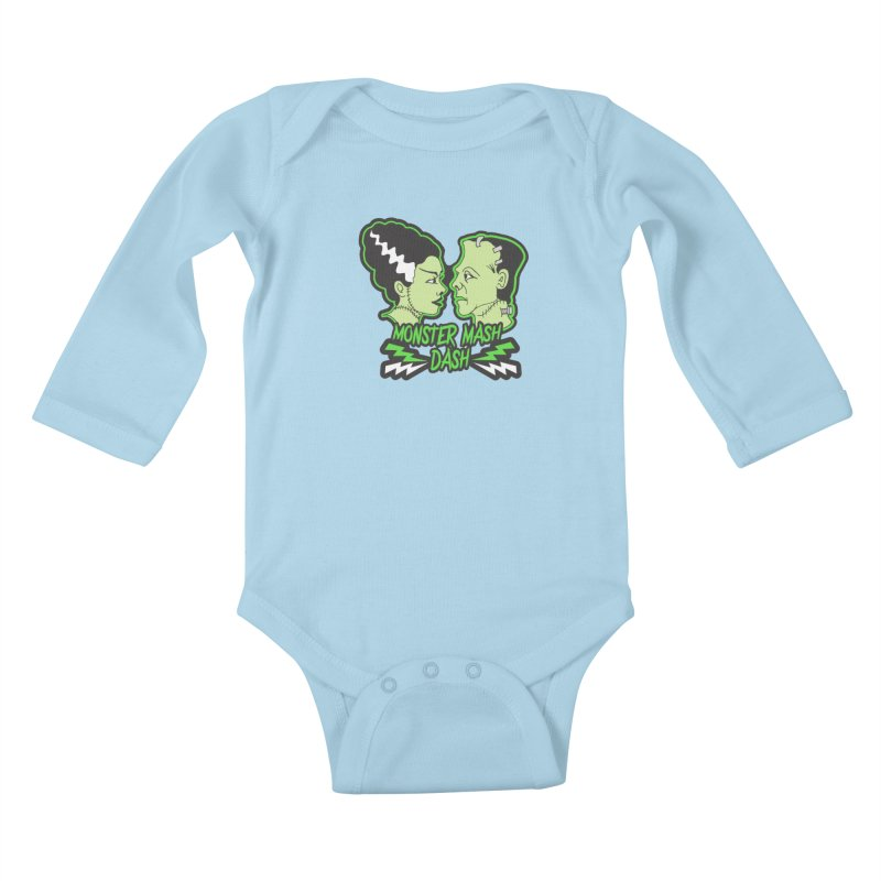 Monster Mash Dash Kids Baby Longsleeve Bodysuit by Moon Joggers's Artist Shop