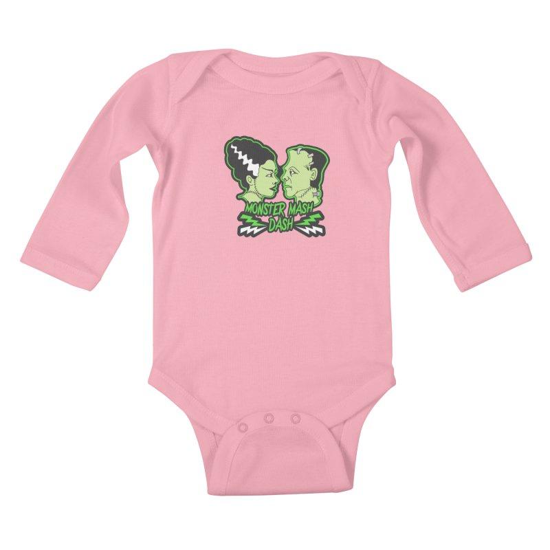 Monster Mash Dash Kids Baby Longsleeve Bodysuit by moonjoggers's Artist Shop