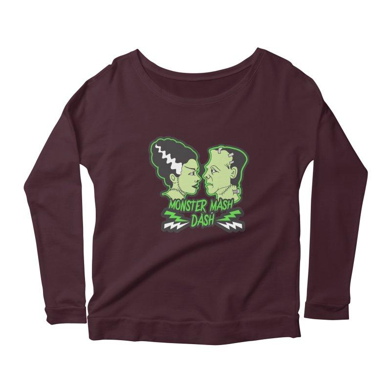 Monster Mash Dash Women's Scoop Neck Longsleeve T-Shirt by moonjoggers's Artist Shop