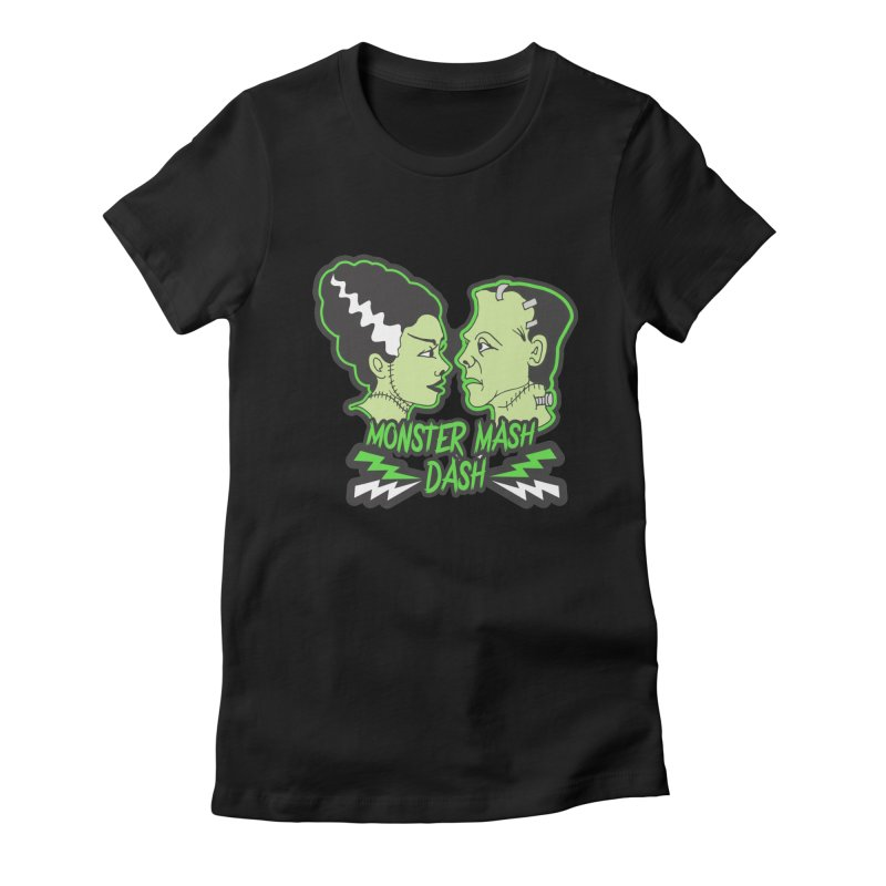 Monster Mash Dash Women's Fitted T-Shirt by Moon Joggers's Artist Shop