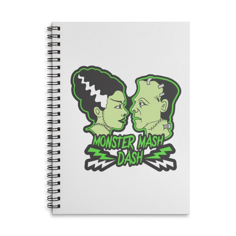 Monster Mash Dash Accessories Lined Spiral Notebook by Moon Joggers's Artist Shop
