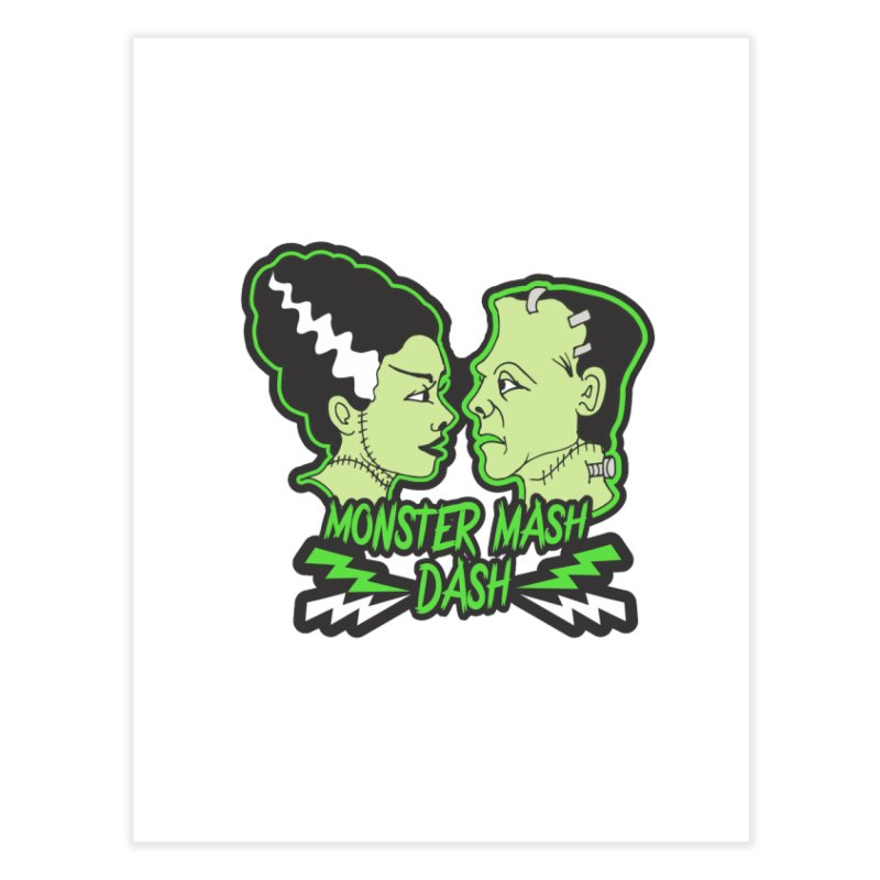 Monster Mash Dash Home Fine Art Print by Moon Joggers's Artist Shop