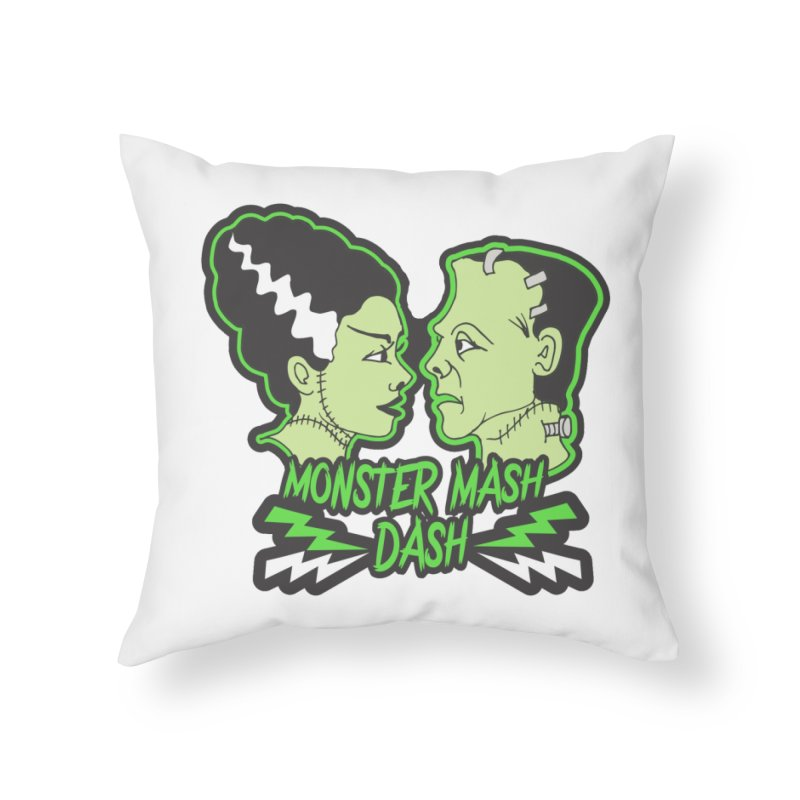 Monster Mash Dash Home Throw Pillow by moonjoggers's Artist Shop