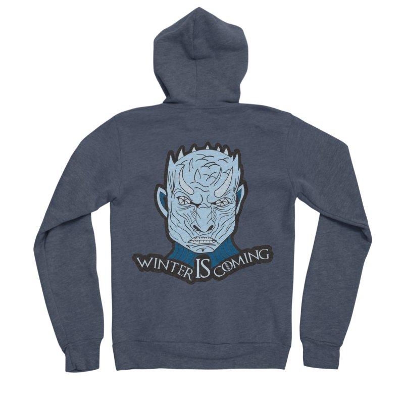 Winter IS Coming Men's Sponge Fleece Zip-Up Hoody by Moon Joggers's Artist Shop