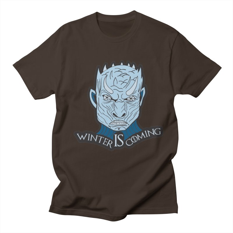 Winter IS Coming in Men's Regular T-Shirt Chocolate by Moon Joggers's Artist Shop