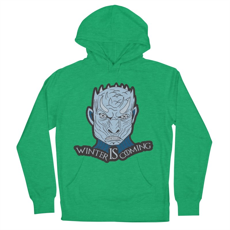 Winter IS Coming Men's French Terry Pullover Hoody by moonjoggers's Artist Shop