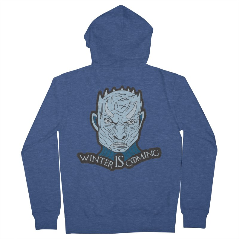 Winter IS Coming Women's French Terry Zip-Up Hoody by Moon Joggers's Artist Shop