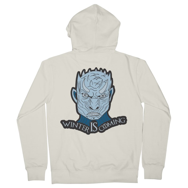 Winter IS Coming Women's French Terry Zip-Up Hoody by moonjoggers's Artist Shop