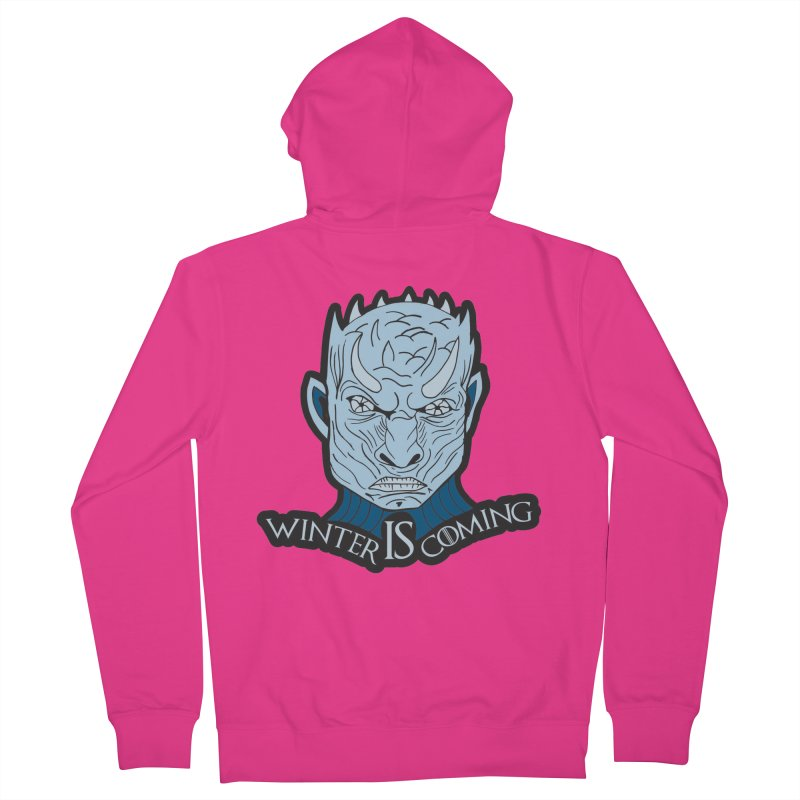 Winter IS Coming Men's French Terry Zip-Up Hoody by moonjoggers's Artist Shop