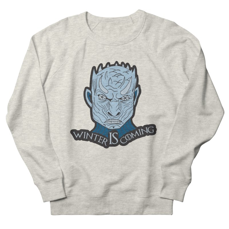 Winter IS Coming Men's French Terry Sweatshirt by moonjoggers's Artist Shop